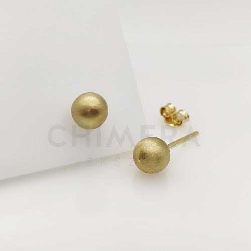 Arany gömb fülbevaló