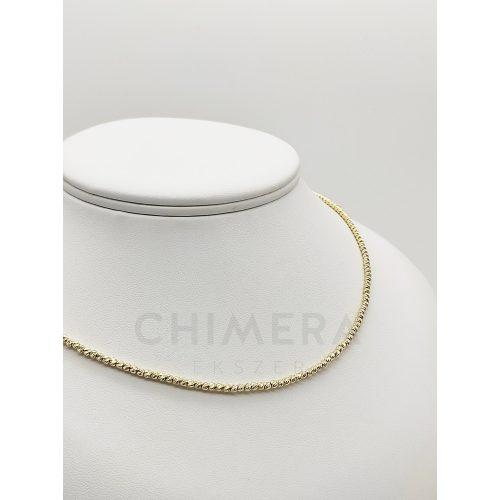 Arany gyémántcsiszolt nyaklánc